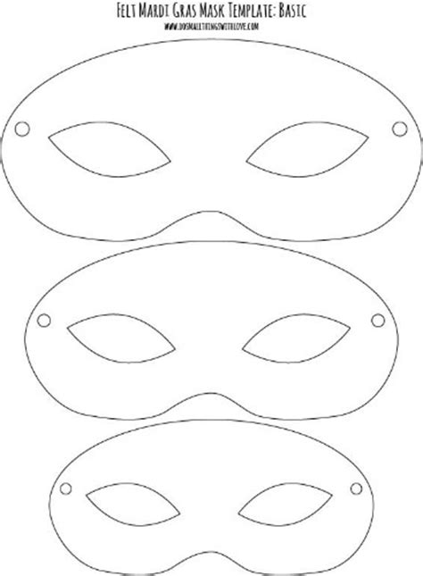 Printable Childrens Mask Templates felt mardi gras masks for free printable mask