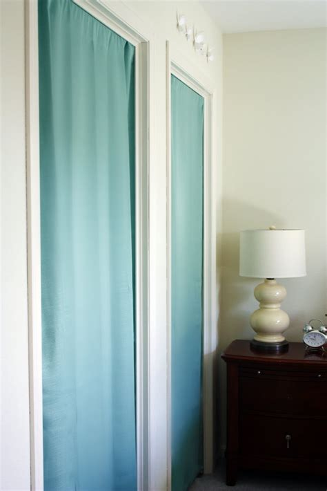 closet curtain door this is how it goes using curtains for closet doors