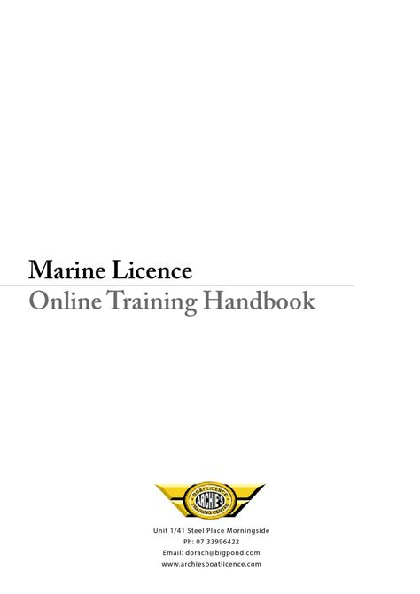 small boat licence queensland archie s personal boating handbook by archie s boat