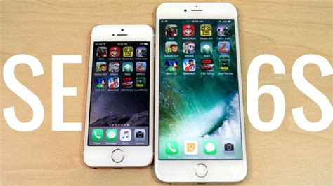iphone se vs iphone 6s plus ios 10 2 gaming
