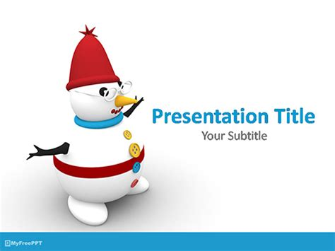 free snowman character powerpoint template download free