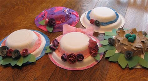 How To Make A Bonnet Out Of Paper - almost unschoolers paper plate millinery easter bonnets