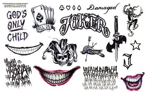 joker harley tattoo gilbert dc character logos tattoos harley quinn