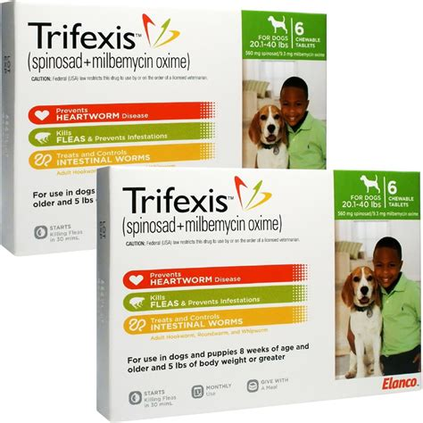 trifexis for dogs trifexis for dogs 20 1 40 lbs 12 chew tabs