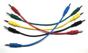 colores cables ad infinitum synthesizer solid color patch cables