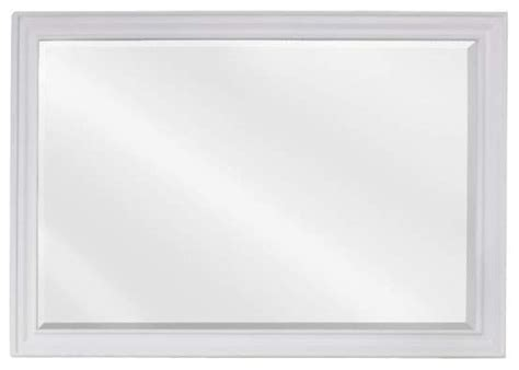 elements douglas bath mirror white frame 42 inch x 1 inch