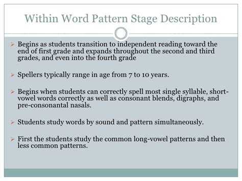 definition pattern of development the stages of spelling