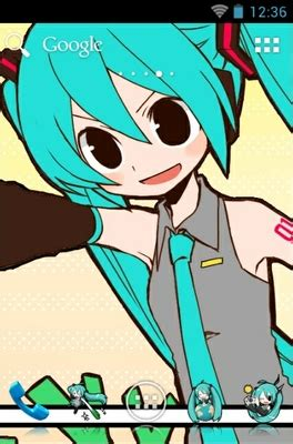 theme line android miku miku hatsune android theme for adw launcher androidlooks com
