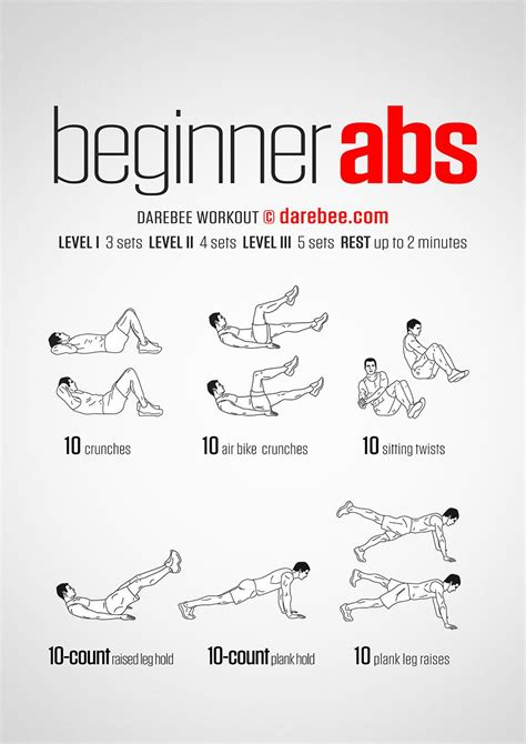 beginner abs workout exercise darbee workout workout abs workout routines