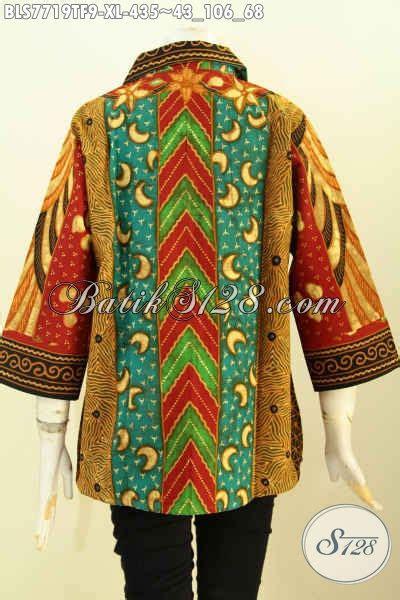 Blus Anak Batik Atasan Anak Cewek Pakaian Anak Batik B11017006ijo sedia pakaian batik kerja atasan untuk cewek blus klasik