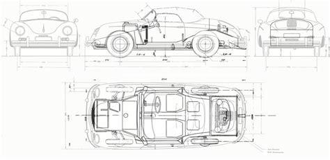 Porsche 356 Blueprint Precice Measurements Speedsterowners 356