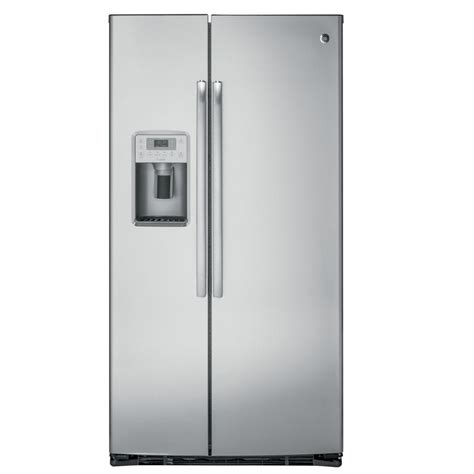 refrigerator cabinet side pzs22mskss ge profile 36 quot 22 1 cu ft counter depth