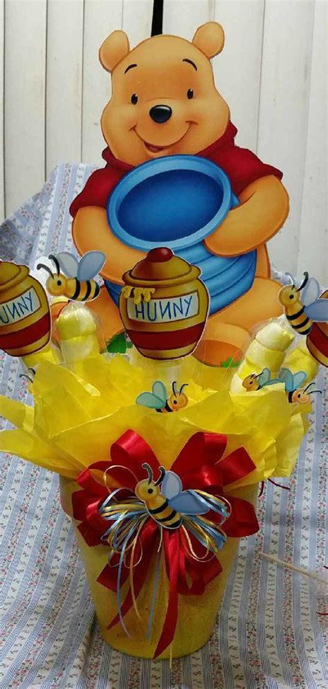 winnie the pooh baby shower centerpiece ideas large winnie the pooh inspired centerpiece with marshmallows birthday baby shower