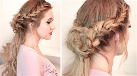 curly hairstyles half up half down youtube braided half up half down hairstyle tutorial for long hair