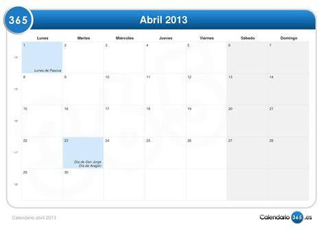 Calendario 9 De Abril Calendario Mensual A 241 O 2013 Imagui