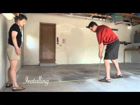install flex tile garage flooring youtube