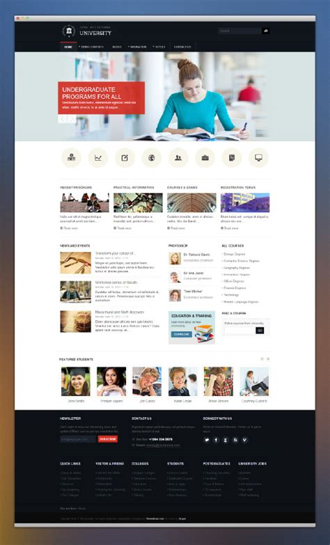 drupal themes school preview on responsive education drupal theme tb