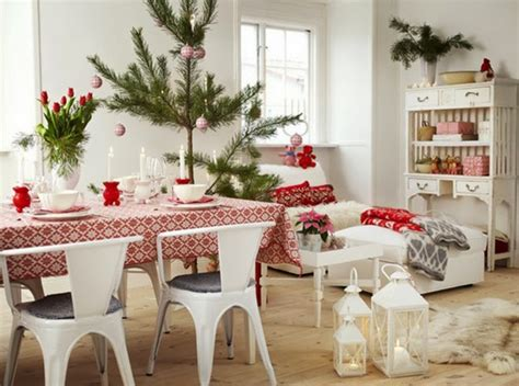 Scandinavian Room red and white scandinavian christmas town amp country living