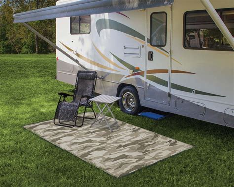 reversible outdoor mat rv trailer cing patio mat