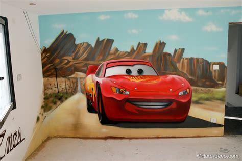 Decoration Chambre Cars by Fresque Cars Flash Mc Pour La Chambre D Enes