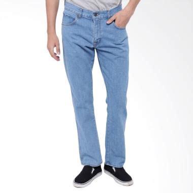 Celana Denim Medium Biru Slim Fit denim look blibli