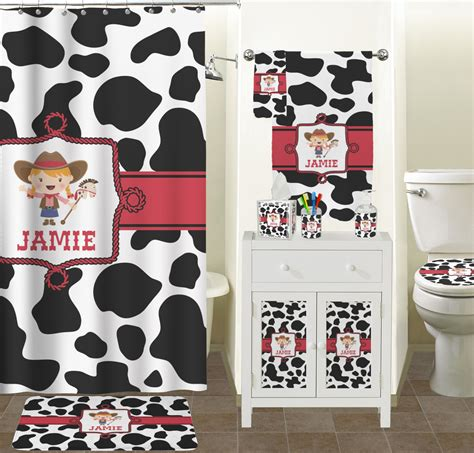 cow bathroom accessories cowprint bathroom accessories set personalized
