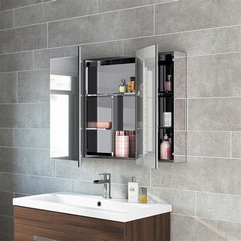 Bathroom Mirror With Storage Inside Bathroom Mirror Storage Unit Wall Mirrored Cabinet Mc111 Ebay