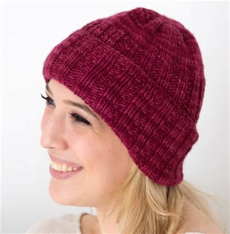 fashion forward knit hat free pattern from red heart yarns 17 best images about hats scarves on pinterest circle