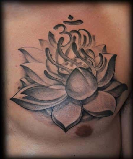 lotus flower with om tattoo designs lotus flower tattoos for ideas and inspiration for guys