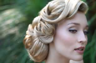 vintage wedding hairstyle onewed