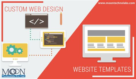 custom html templates custom web design vs website templates which one is