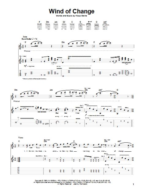 tutorial piano wind of change wind of change guitar tab by scorpions guitar tab 28635