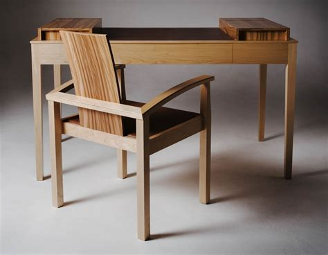 desk and chair bespoke desk and chair in maple and olive makers eye