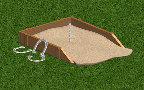 horseshoe pit dimensions backyard maya horse shoe horseshoe