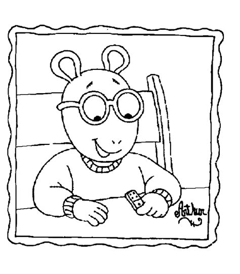 Free Printable Arthur Coloring Pages Coloring Part 2 Arthur Colouring Pages