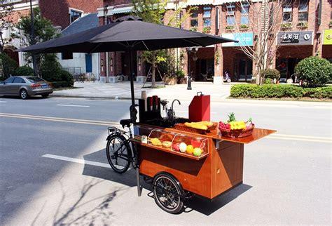 carrinho de comida de cachorro quente caf 233 retro bicicleta