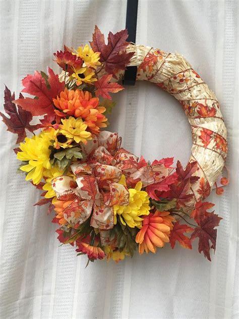 straw wreath ideas  pinterest fall ribbon