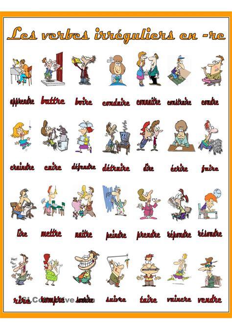 verbe pattern en francais les verbes irr 195 169 guliers en re verbes pinterest