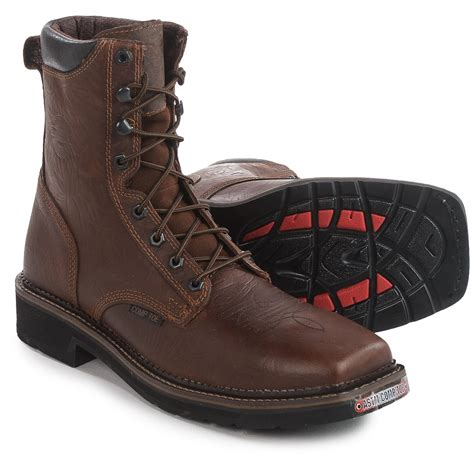 justin steel toe lace up boots justin boots lace up eh work boots for save 50