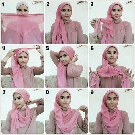 tutorial hijab zahratul jannah hijab wrapping by zahratul jannah http bit ly 1sfgf0e