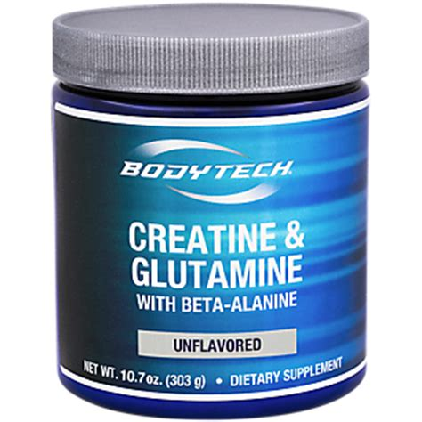 creatine or glutamine creatine and glutamine with beta al unflavored 10 7