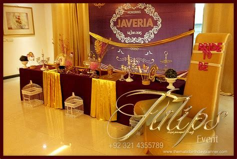 Best Bridal Shower Theme Ideas by tulips events in Pakistan