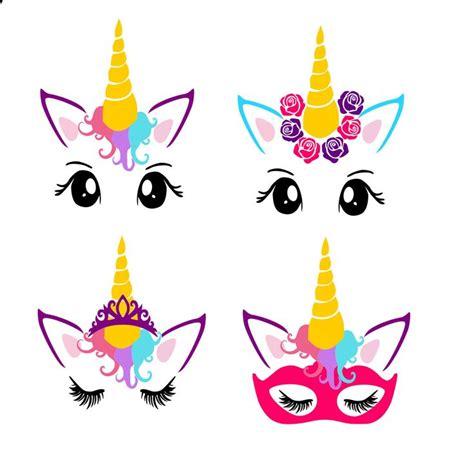 printable unicorn face unicorn faces pdf png svg dxf cut file printable