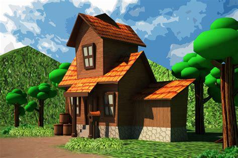 asset cartoon house  poly cgtrader