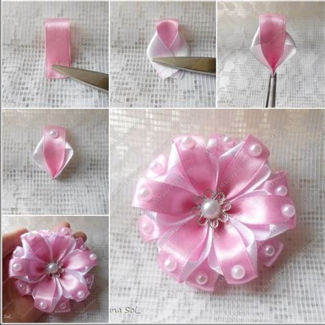 Handmade Ribbon Flower - 721 best images about handmade fabric paper and ribbon