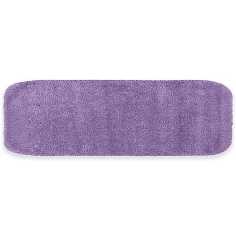 Purple Bath Rugs Buy Traditional Plush Bath Rug In Purple From Bed Bath Beyond