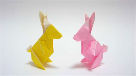 Easter Origami Bunny - how to fold origami rabbit 2013 摺紙兔2013教學 kade chan
