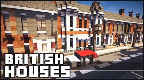 Row Of Houses - minecraft 1 million british houses youtube