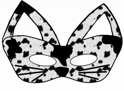 early play templates 5 printable halloween cat masks to make