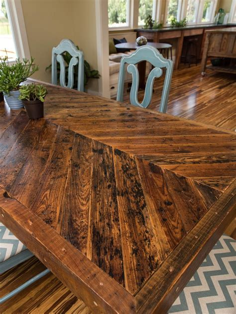 solid oak reclaimed barn wood dining room table dining room pictures from blog cabin 2014 diy network